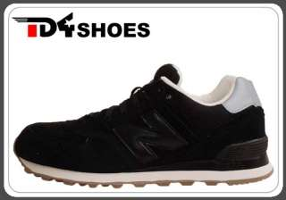 New Balance ML574 LKT D Black Suede Silver 2011 Mens Casual Shoes