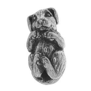 Green Girl Studios Pewter Hugging Puppy Dog Focal Bead