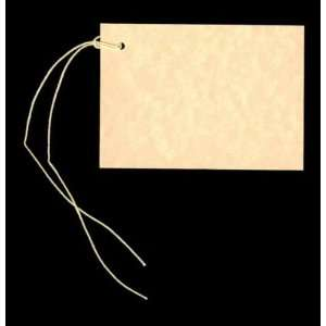100 Blank HARVEST GOLD Hang Tags (2 1/2x3 1/2) & 100 Cut Strings for
