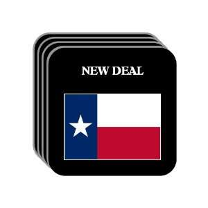 US State Flag   NEW DEAL, Texas (TX) Set of 4 Mini Mousepad Coasters