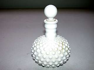Fenton Hobnail Opaque White Milk Glass Bottle w/Stopper