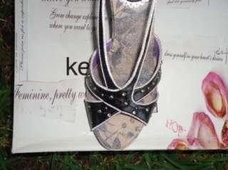 NEW KENZIE HANYA Womens Black Wedge Sandals Size 9 M