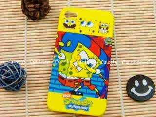 SpongeBob Squarepants iPhone 4G 4GS Hard Plastic Case B