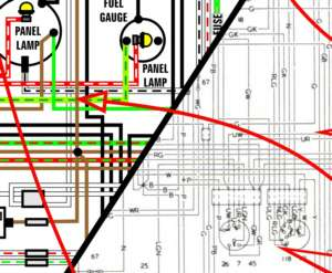 Harley Davidson Sportster XL H 1975   1978 COLOR Wiring Diagram 11 x