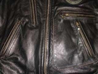Harley Davidson Vintage Moto Cruise Leather Jacket NWOT 97068 04VL 3XL