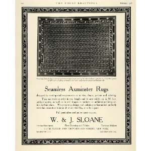 1918 Ad W J Sloane Seamless Axminster Rugs Home Decor