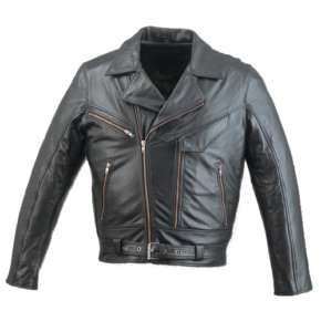 Mens Leather Motorcycle Jacket Zipout Liner~Vents~LJ08
