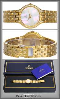 Ladies Concord 14k Gold & Diamond Mother of Pearl Watch