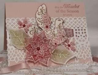 Heartfelt Creations Christmas Cling Rubber Stamp Set Petite Poinsettia