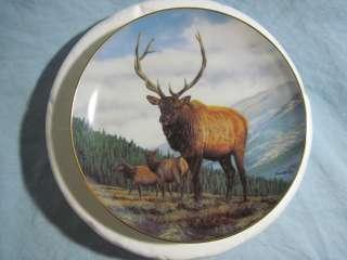 Danbury Mint MOUNTAIN TRIO Collector Plate DEER ELK Bruce Miller