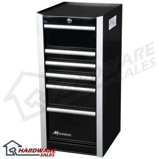 Montezuma BK1806SB 18 Inch 6 Drawer Side Box Black
