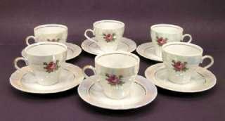 JLMENAU GRAF VON HENNEBERG PORZELLAN TEA/COFFEE SET GERMANY 30 PIECES