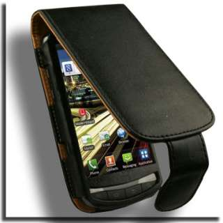 Leather Flip Case for Samsung Droid Charge Verizon BLK