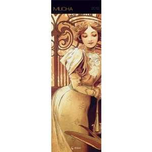 Mucha Paintings 19 by 6 Inch Vertical Wall Calendar Arts