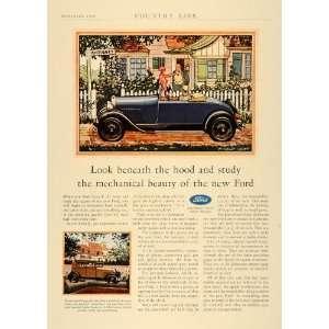 1928 Ad Antique Ford Tudor Sedan Car Detroit Michigan
