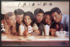 FRIENDS   FRAMED TV POSTER (Friends Sharing Milkshakes)