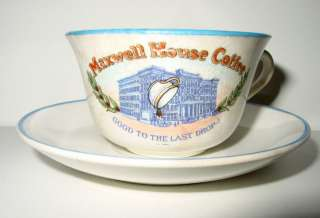 Maxwell House Coffee Adv. Cup & Saucer   Hopewell China