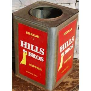 Huge Old Hills Bros Coffee Tin Can  Grocery & Gourmet Food
