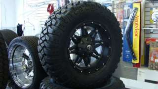 17 Fuel Hostage Black Wheels 33x12.50 17 Mickey MTZ