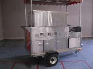 Steam Hot Dogs Push Cart, HotDogs, Food Vending 15014