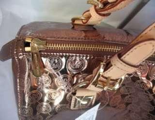 328 NWT MICHAEL Michael Kors Grayson Lg Monogram Mirror Metallic