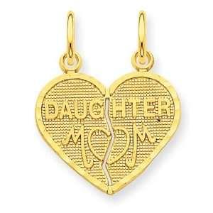 Break Apart Mom Daughter Charm in 14k Yellow Gold Jewelry