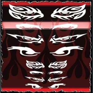 Eyes 3 airbrush stencil template harley paint