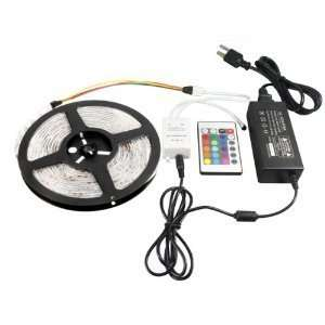 300 LED Lighting Strip Kit RGB 16.4ft 24key Controller