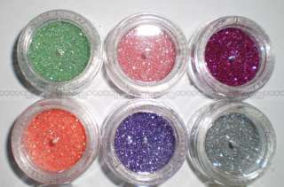 12 COLOR POWDER GLITTER NAIL ART DECORATION MAKEUP