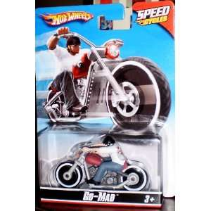 hot wheels speedcycles go mad motorcycle chopper sealed on