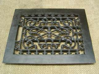 Vintage Cast Iron Register Grate  Antique Old Hardware Architectural