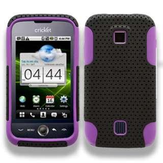 Huawei Ascend M860 2 in1 silicone skin hard case Cover Hybrid Purple