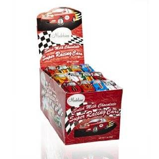 Mini Chocolate Nascar Race Cars 24 Bags:  Grocery & Gourmet