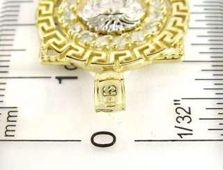 10k Yellow White Gold Medusa Head Versace Greek Design Pendant SZ