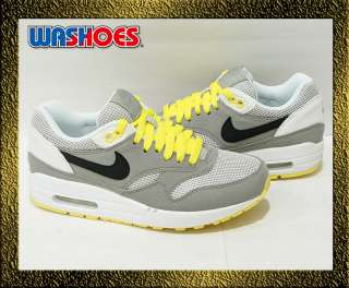2011 Nike Wmns Air Max 1 Medium Grey Black White Sonic Yellow US 5.5
