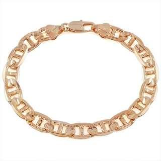 Noble MEN 18K Rose Gold SOLID YELLOW GOLD GP Curb LINK Bangle BRACELET