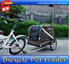 New Large Portable Pet Dog Bicycle Bike Trailer Folding Carrier Brow