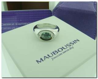 Mauboussin PARIS Aquamarine Betty Solid 18k Gold Ring