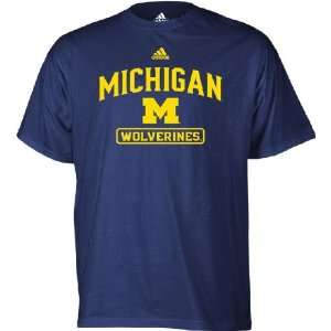 Adidas Michigan Wolverines On Court Practice T Shirt