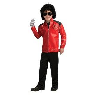 Michael Jackson Costume, Childs Deluxe Beat It Red Zipper Jacket
