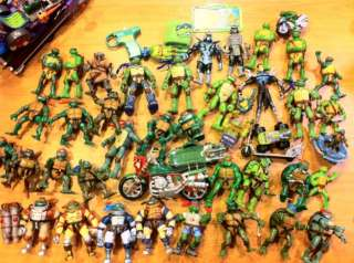Huge lot of Teenage Mutant Ninja Turtles TMNT 88 figures 5 vehicles