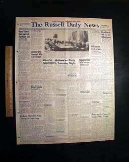 MARILYN MONROE Joe DiMaggio Divorce 1954 Old Newspaper