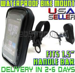 Apple iphone 4s WaterResistant Bicycle Bike Motorcycle Mount (Fits .75