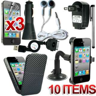 HARD CASE CAR HOLDER CHARGER STAND MOUNT FOR APPLE IPHONE 4 4S