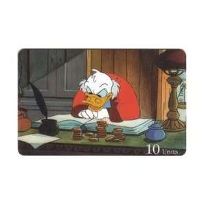 Card: 10u 1995 Disney Series: Uncle Scrooge McDuck At Desk With Money
