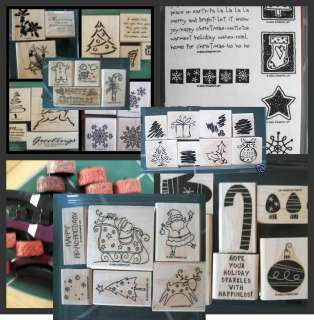 Stampin Up Christmas Holiday Winter U Pick rubber stamp sets & wheels