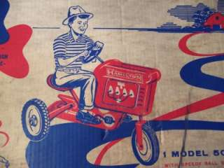 Vintage 1950s Pedal Car   Hamilton Tractor Model 500   ORIGINAL BOX