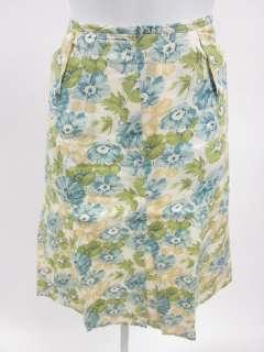ELEVENSES ANTHROPOLOGIE Beige Floral Print Skirt Sz 8
