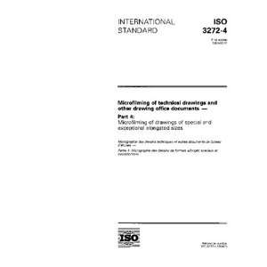 ISO 3272 4:1994, Microfilming of technical drawings and other drawing