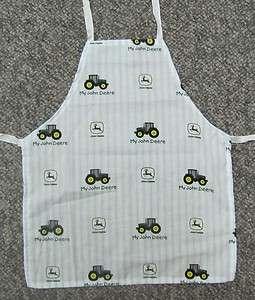 Cute new apron child toddler blue tractor John Deere